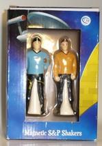 Star Trek Spock Captain Kirk Salt Pepper Shaker Set magnetic Westland Gi... - $27.77