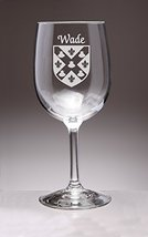Wade Irish Coat of Arms Wine Glasses - Set of 4 (Sand Etched) - $56.79