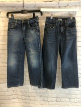 Boys Size 7 Gap Kids And Mini Boden Jeans Lot Of 2 - $14.84