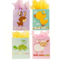 13W x 18H x 5 1/2G Extra Large Baby Farm Pop Layer On Matte Gift Bag, 4 ... - $310.83 CAD
