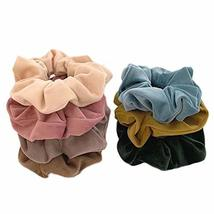 8 Pcs Velvet Hair Scrunchies Elastic Hair Band Ponytail Hair Ties Hair Accessori