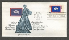 Feb 23 1976 State Flags: Wyoming #1676 FDC Fleetwood - $5.49