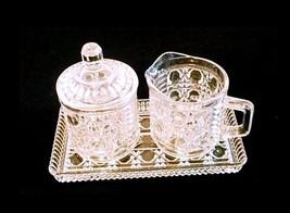 Cream & Sugar Set with Tray  AB 285 Vintage Cut Glass