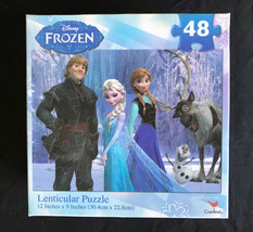 NEW Disney Frozen Lenticular 48 Piece Puzzle 12 Inches x 9 Inches - $8.33