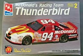 1996 McDonald's Racing Team Bill Elliott Thunderbird AMT/Ertl 1/25 Model Kit - $18.99