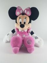 "Disney Minnie Mouse Plush 18"" Pink Polka Dot Bow & Dress Disney Store Pl... - $18.99"
