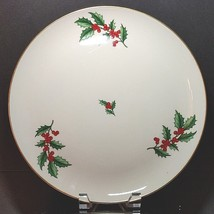 """PICKARD Holly Pattern Porcelain Plate Charger 11-3/4"""" Diameter Made in USA - $25.64"""
