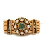 Antique 19th Century French Victorian 18K Gold Spinel & Cultured Pearl B... - £573.57 GBP