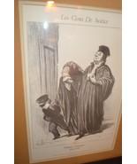 Les Gens de Justice -IT'S TRUE YOU HAVE LOST YOUR CASE..24x20 w/black wo... - $49,500.00