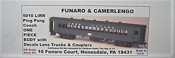 Funaro & Camerlengo HO LIRR Ping Pong Coach One Piece Body Kit 5010
