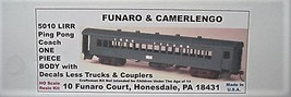 Funaro & Camerlengo HO LIRR Ping Pong Coach One Piece Body Kit 5010 image 1