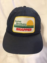 Porter Brothers Snapper Patch Trucker Hat Rope Snapback Americap USA Mad... - $27.71