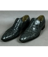 AUTHENTIC ZILLI GREY CROCODILE ALLIGATOR LEATHER MEN'S LOAFER SHOES Size 9 - $989.01