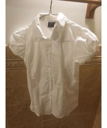 NWOT Izod Approved Schoolwear Uniform White SS Button Down Shirt Girls L... - $10.10