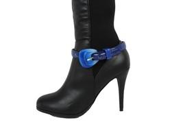 Donna Stivali Bracciale Moda Ciondoli per Scarpe Blu Cinturino in Ecopelle - $31.31