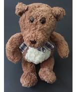 Gund Best Friends Teddy Bear Plush Stuffed Animal Plaid Bow Toy - $12.86