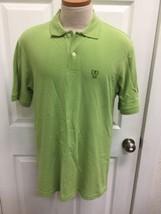 Izod Men's Sz L Lime Green Polo Shirt 100% Cotton Golf - $8.90