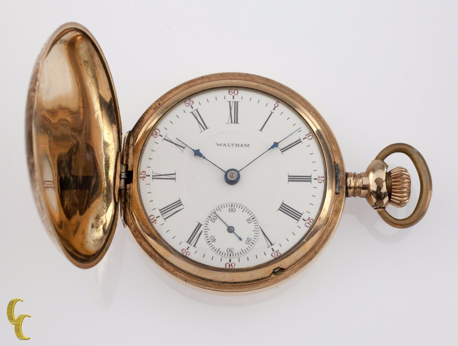 Antique Waltham Gold Filled Hunting Cased Lady's Size 6 Pocket Watch Watches, Parts & Accessories
