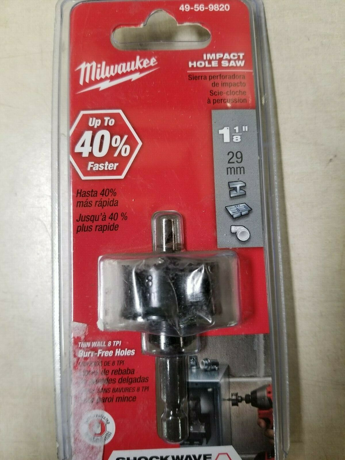 "Primary image for Milwaukee 1-1/8"" Shockwave Impact Hole Saw 49-56-9820"