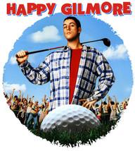 Happy Gilmore T-shirt Free Shipping retro 90's golf movie 100% cotton white  tee image 2