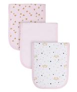 Organic Cotton Interlock Terry Burp Cloths, 3Pk (Baby Girl) - $11.95
