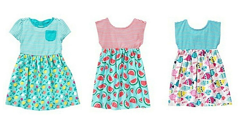 Gymboree Girls Cotton Jersey Dress Watermelon Fish Fruit 12-18 18-24 NWT - $16.99