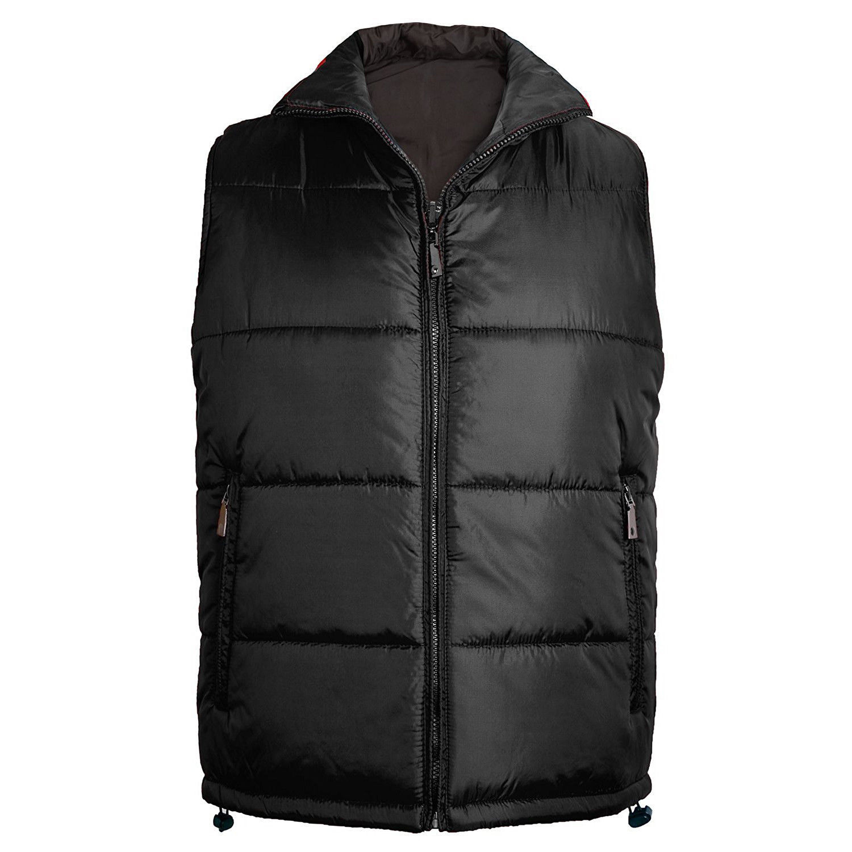 Maximos Men's Premium Zip Up Water Resistant Insulated Puffer Sport Vest Black