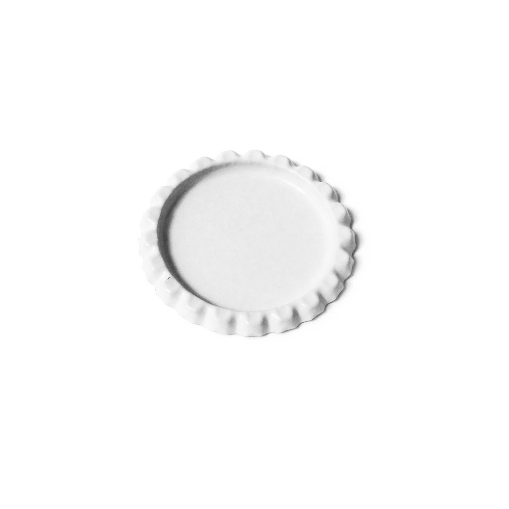 LAST CHANCE! Paper Studio Spare Parts Glossy White Flat Bottle Caps