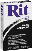 Rit Powder All Purpose Clothes Fabric Concentrate Dye Black 83150 - $9.16 CAD