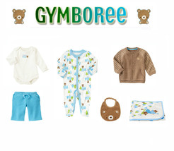 "Gymboree Baby Boys ""Animal Friends"" Bear Collection 6 Piece Set NB-0 M - $84.10"
