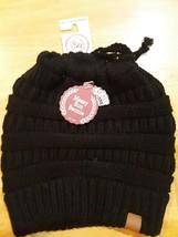 CC Beanietail Messy High Bun Ponytail Stretchy Knit Beanie Skull Hat - $9.40