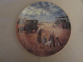 BOUNTIFUL HARVEST collector plate EMMETT KAYE Farming the Heartland STEA... - $14.99