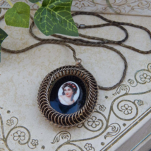 WARNER Cameo Pendant on Chain Necklace, Rare Warner Hand-Painted Cameo N... - $179.00