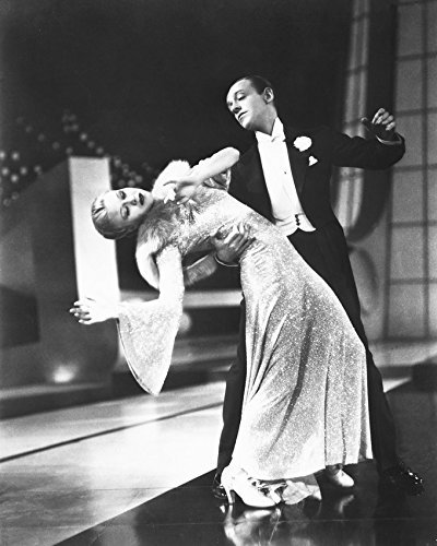 Primary image for Fred Astaire & Ginger Rogers Top Hat B&W Print 16x20 Canvas Giclee