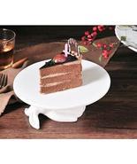 Porcelain cake plate Ceramic white rabbit foot holder creative home deco... - $58.80+