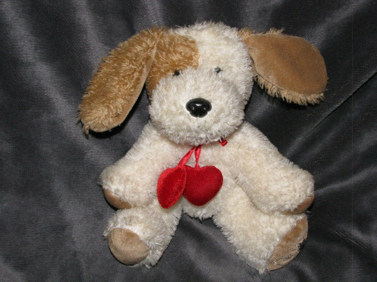 Russ Berrie Shining Stars Eye Patch Dog Cream Brown Red Heart Bean Bag - $29.69