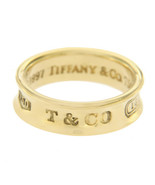 Authentic Tiffany & Co 18K Yellow Gold 1997 Band Ring Size 6 »U416 - $737.43