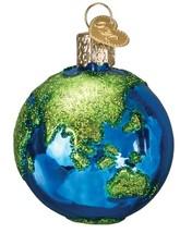 Planet Earth World Globe Holiday Ornament Glass - $33.76