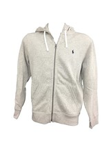 Polo Ralph Lauren Mens Hoodie Full Zip Navy Rider Polo Grey Heather XXL - $94.99