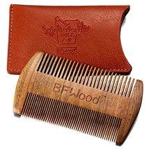 BFWood Pocket Beard Comb - Sandalwood Comb with Leather Case image 2