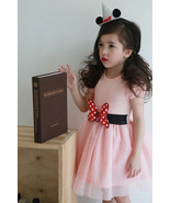 Pink tulle Wedding Flower Girl Dresses Caped Sleeve  Pageant Party Gowns... - $22.55
