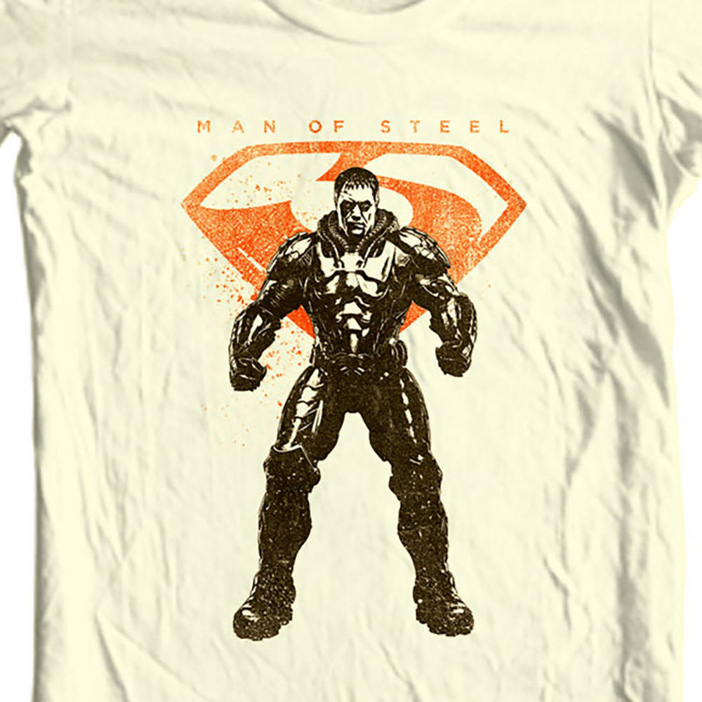 General Zod Man of Steel T-shirt DC comics movie Superman graphic tee SM2113