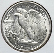 1944 Walking Liberty Half Dollar 90% Silver Coin Lot# A 576 image 2