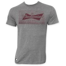 Budweiser Lined Bow Logo Pop Top Bottle Opener T-Shirt Gray - €19,95 EUR+