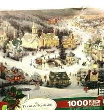 Thomas Kinkade Painter Of Light 1000 Pieces Puzzle 27x20 St Nicholas Circle 1993 - $17.63
