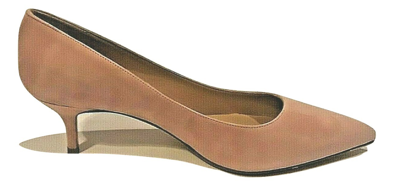 Primary image for C LA CANADIENNE WOMEN'S BLUSH SUEDE KITTNE HEELS Size US 7.5M / EURO 38