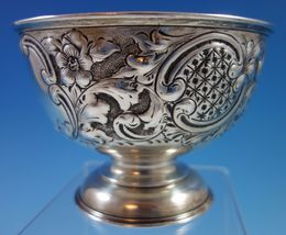 J. Gloster Ltd. English Sterling Silver Repoussed and Chased Pedastal Bowl #1651 image 6