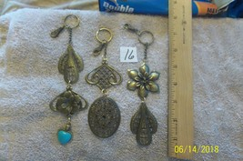 # purse jewelry bronze color keychain backpack  dangle charms #16 lot of 3 image 1