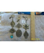 # purse jewelry bronze color keychain backpack  dangle charms #16 lot of 3 - $6.89