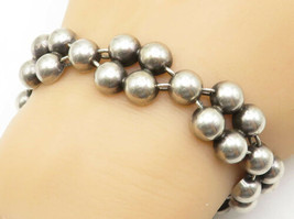 JOHN LAURITZEN DENMARK 925 Silver - Vintage Smooth Dome Chain Bracelet -... - $89.67